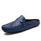 Men Closed Toe Breathable Non Slip Rubber Sole Casual Sippers - Blue