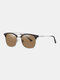 Unisex Wide Metal Frame Outdoor Fashion Driving UV Protection Polarized Sunglasses - #04