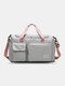 Lightweight Sports Gym Bag with Wet Pocket & Shoes Compartment Travel Duffel Bag Lightweight - Gray1
