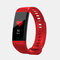 Smart Band Heart Rate Blood Pressure Monitor Bluetooth Color Screen Smartband Activity Monitor Fitness Tracker - Red