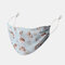 Women Printed Chiffon Face Mask Breathable Ethnic Floral Mask  - 03