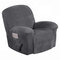 Waterproof Recliner Couch Cover All-inclusive Sofa Cover Seat Elasticity Stretch Anti-slip Furniture Slipcovers Chair Protector - Grey
