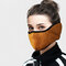 Men Women Winter Warm Cold Dustproof Breathable Warm Ears Outdoor Cycling Ski Travel Mouth Mask - Brown