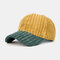 Collrown Men & Women Corduroy Contrast Color Casual Youth Personality Sunvisor Curve Brim Baseball Hat - #02