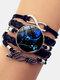 Vintage Twelve Constellation Women Bracelet LOVE Letter Multilayer Bracelet - Pisces