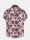 Mens Ethnic Business Style African Southeast Asian Slim Fit Short Sleeve Shirt - White