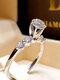 Trendy Geometric Metal Diamond Rings Temperament Rhinestone Rings - #15
