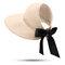 Donna UV Protezione Cappello di paglia Cappello a tesa larga Cappello lungo Cappellino piatto Cappello da spiaggia