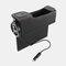 カーシートギャップ収納ボックスUSB充電ベルトデジタルディスプレイ収納ボックス多機能レザーカーウォーターカップホルダー - 黒1