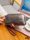 Women Vintage PU Leather Leaf Embossed Money Clips Soft Clutch Bags Wallet Purse - Gold