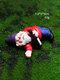 ドワーフおかしいミニチュア妖精の庭おしっこ酔ったノームエルフの装飾品手工芸品屋外樹脂盆栽庭の装飾 - #04