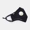 Protective Mask Anti-haze Dust Belt Valve Breathable Cotton Face Mask - Black