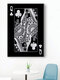 Poker Q Pattern Canvas Painting Unframed Wall Art Canvas Living Room Home Decor - #07