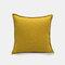 Solid Color Sofa Pillowcase Polyester Linen Creative Car Cushion Room Living Room Pillow - Yellow