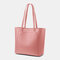 Women 3Pcs Multi-pocket Large Capacity 13.3 Inch Laptop Key Solid Tote Shoulder Bag with Purse Organizer Insert - Pink