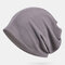 Thin Beanie Hat Solid Color Mesh Breathable HairBand Scarf Multifunctional - Gris foncé