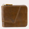 Genuine Leather Multi-slots Casual Card Holder Wallet Purse For Men - #04