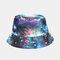 Graffiti Galaxy Fisherman Hat Women's Cotton Basin Hat - Blue