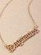 Elegant Letter Inlaid Diamond Women Necklace Twelve Constellation Pendant Necklace Jewelry Gift - Sagittarius
