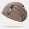 Cappello lavorato a maglia con doppio berretto in cotone solido casual da donna in cotone caldo all'aperto - caffè