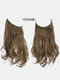 40 Colors Fishing Line Long Curly False Hair Pieces No-Trace Hair Extensions - 22