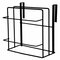 Double Chopping Board Wrought Iron Free Punching Wall Hanging Cabinet Rack - Black
