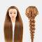 Multicolor Hairdressing Training Head Model Braided Disc Hair Salon Hairdresser Practice Mannequin - 19