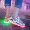 Muster LED leuchten bunte Turnschuhe