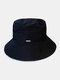 Unisex Nylon Waterproof Quick-drying Double-sided Wearable Solid Color Camouflage Bucket Hat - Black