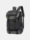 Men Outdoor Canvas Large Capacity 15.6 Inch Laptop Bag Travel Backpack - Gray
