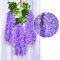 12 قطعة / المجموعة 100 سنتيمتر الزهور الاصطناعية الحرير الوستارية وهمية حديقة معلقة زهرة النبات كرمة ديكور الزفاف - ضوء ارجواني
