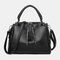 Women Casual Solid Crossbody Bag - Black