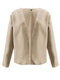 Solid Color Long Sleeve Casual Coat For Women - Apricot