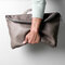 Men Handbag Casual Multifunction Foldable Solid Crossbody Bag - Grey