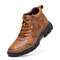 Men Durable Plus Size Non-slip Casual Outdoor Boots - Red Brown
