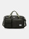 Lightweight Sports Gym Bag with Wet Pocket & Shoes Compartment Travel Duffel Bag Lightweight - Black
