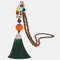 Vintage Buddha Wood Beads Long Necklace Ethnic Geometric Tassel Pendant Sweater Chain - 11