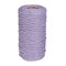 1Pc 200mx3mm Color Cotton Rope Cotton Thread Braiding Rope Hand DIY Decorative Rope Tapestry Weaving Rope - Light Purple