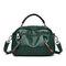 Women Plain Multi-pockets Square Bag Shoulder Bag - Green
