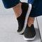 Women Solid Color Hollow Brathable Non Slip Casual Shoes - Black