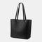 Women 3Pcs Multi-pocket Large Capacity 13.3 Inch Laptop Key Solid Tote Shoulder Bag with Purse Organizer Insert - Black