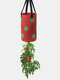 Potato Strawberry Planter Bags For Growing Potatoes Outdoor Vertical Garden Hanging Open Vegetable Planting Grow Bag - Red