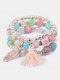 Vintage Multicolor Beautiful Opal Bracelet Temperament Multi-layer Tassel Bracelet - #18