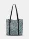 Classic Animal Print Pattern Handbag Fashion Exquisite Hardware Decor Clear Fabric Large Capacity Tote - Blue