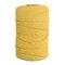 1Pc 200 mx4mm Colore Cotone Corda Filo di cotone Intrecciare la corda Mano FAI DA TE Decorativo Corda Arazzo Corda di tessitura - Giallo