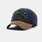 New Fashion Baseball Cap Retro Sun Hat Embroidery Hats - Navy