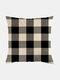 Classic Plaid Pattern Linen Cushion Cover Home Sofa Art Decor Throw Pillowcase - #07