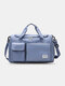 Lightweight Sports Gym Bag with Wet Pocket & Shoes Compartment Travel Duffel Bag Lightweight - Blue