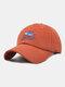 ユニセックス コットン ソリッド カラー サメの手紙刺繍サンシェード ファッション ベースボール キャップ - 赤