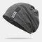 Cappello lavorato a maglia con doppio berretto in cotone solido casual da donna in cotone caldo all'aperto - Grigio